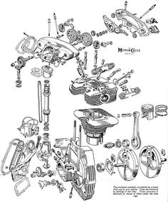 1000+ images about Motorcycle Engine Exploded View