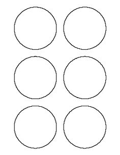 8 inch circle pattern. Use the printable outline for