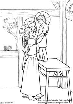 St. Luke the Evangelist Catholic Coloring Page. Patron of