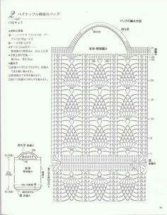 White Flower Crochet Round Bag Diagram | BAGScrochet