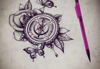 Bilder Zu Tattoo Auf Pinterest Kompasstattoo