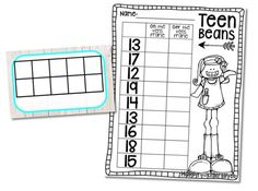 Roll and Trace Numbers 11-20- Roll a die and trace a