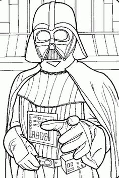 Star wars darth, Darth vader and Coloring pages on Pinterest