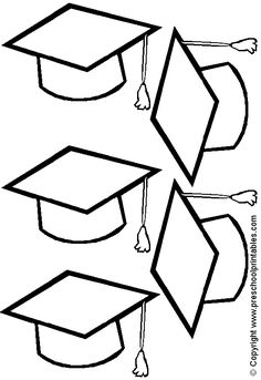 Graduation caps, Coloring pages and Graduation on Pinterest