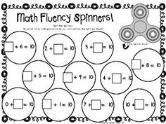 Math with Fidget Spinners. Printable worksheet to practice