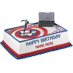 Captain America Birthday Cake Tesco Birthday Ideas