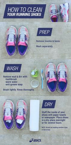 dirty running shoes tips to clean and care for your asics