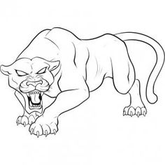 Baby Panther Clip Art   panther clipart