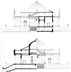 PLAN of Palladio's Villa Rotunda (formerly Villa Capra