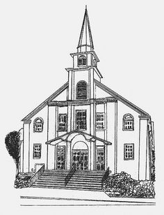 My pencil drawing of Shannondale Presbyterian Church