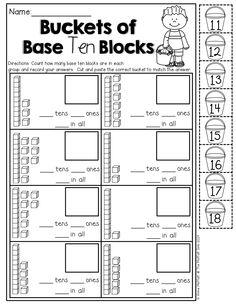 Base Ten blocks (cut and paste)! TONS of fun printables