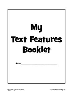 Students create their own text feature book-great
