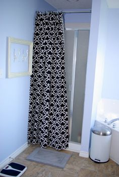 Ruffled Curtain Over Glass Shower Door Shower Doors Glasses And