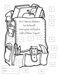 Box tops, Boxes and Back to school on Pinterest