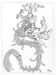 Free coloring page coloring-adult-totem-inspiration-inca-mayan-aztec-1. Totem inspired by Aztecs