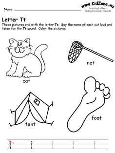 Also love this site. learning letters worksheet