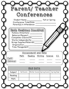 1000+ images about parent/teacher conferences on Pinterest