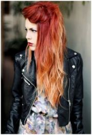 stunning red ombre hair