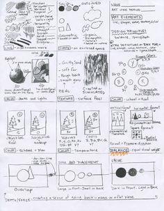 Elements of Art Sketchbook Activities: Sketchbook