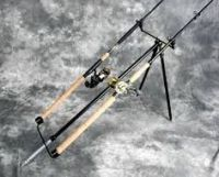 Bank fishing rod holder, fishing pole holder built in ...