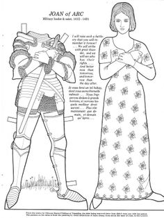 Joan of Arc Costume with instructions to make the banner