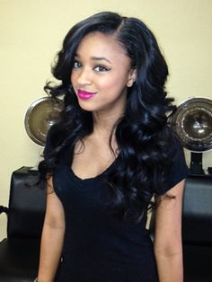 side part weave on pinterest middle part weave invisible part weave and medium weave hairstyles