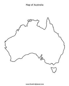 This printable map of the continent of Australia has blank