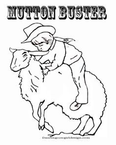 Rodeo, Coloring pages and Bull riding on Pinterest