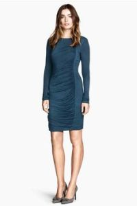 Fitted black mid-calf length dress | Clothes | Pinterest ...