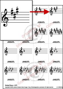 Printable Music Intervals Flash Cards, Handouts