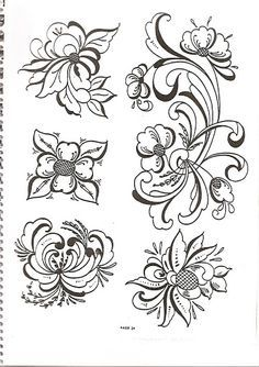 Norwegian Rosemaling coloring page from Norway category