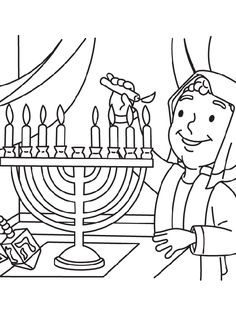 Menorah, Coloring pages and Coloring on Pinterest