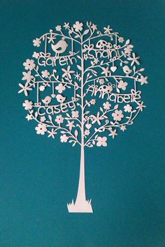 Cards And Paper Crafts On Pinterest Family Trees