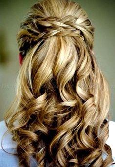 Frisuren Halb Offen Geflochten Wedding Pinterest Frisur Halb