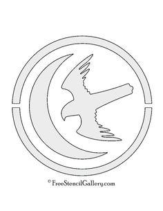 Game of Thrones House Baratheon Sigil stencil template