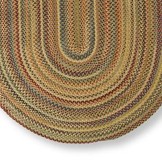 Coastal Colors Braided Chenille Rug  Pinterest  Butter Braided rug and Colors