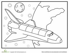 Slideshow: Exploring Outer Space Colouring pages, mazes