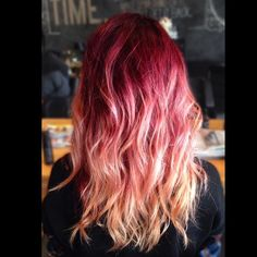 Yellow Orange Red Blonde Ombre