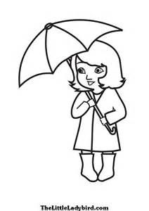 umbrella coloring book page-template for #
