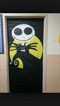 Nightmare before Christmas door decor for Halloween ...