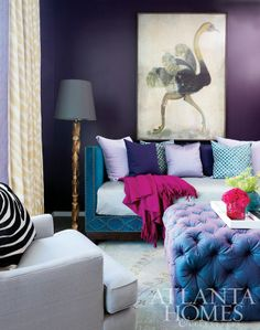 blue and purple living room 1000+ images about Combo of Blue & Purple Interior/Exterior Decorating Ideas on Pinterest