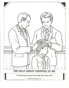 Baptism day! Primary coloring page. #lds #ldsprimary http