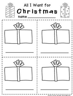 Printable included in CHRISTMAS WRITING for Kinders by