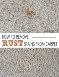 How to get a Set-In Rust Stain out of Light Colored Carpet ...