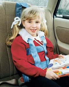 Special needs seatbelt harness for older children out of a