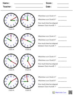 Adding and Subtracting Time Worksheets--MAKE YOUR OWN
