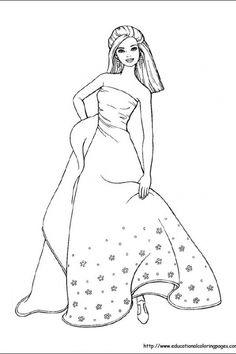 1000+ images about Barbie Coloring Pages on Pinterest
