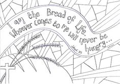 Booklet craft..free printable PDF. Pix in shape of bread