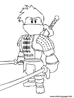 Roblox Slender Coloring Page Coloring Pages