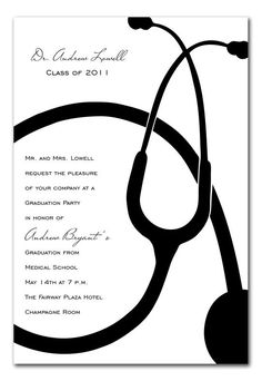 Doctor / Medical Degree Graduation Party Invitation Cards